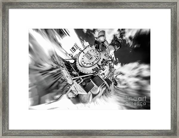 Durango Silverton Train Arrives Framed Print
