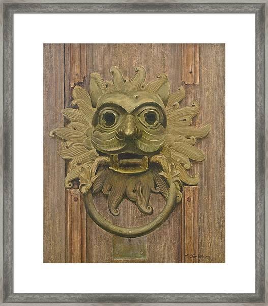 Durham Cathedral Door Knocker Framed Print