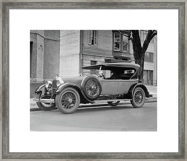 Dusenberg Car Circa 1923 Framed Print