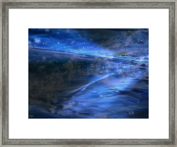 Dusk And Planets Framed Print