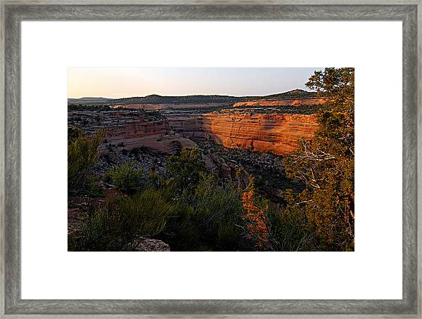 Dusk At Colorado National Monument Framed Print