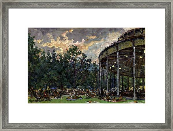 Dusk At Tanglewood Framed Print