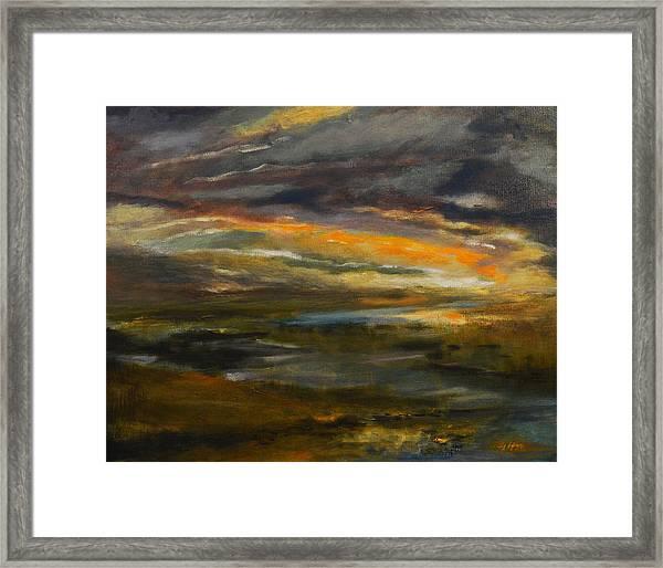 Dusk At The River Framed Print