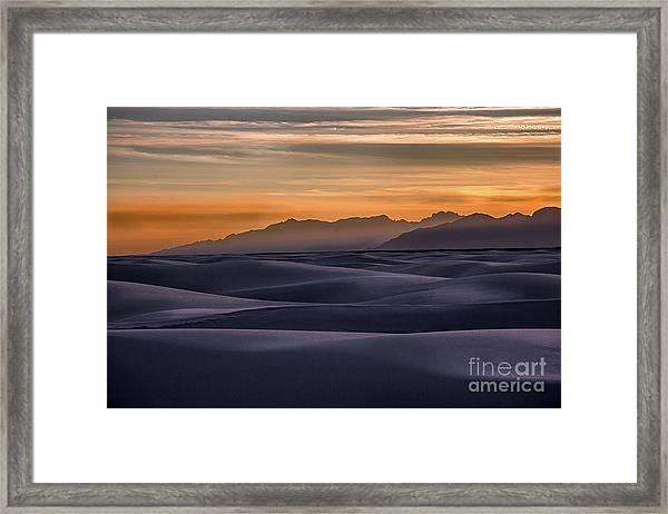 Dusk At White Sands Framed Print
