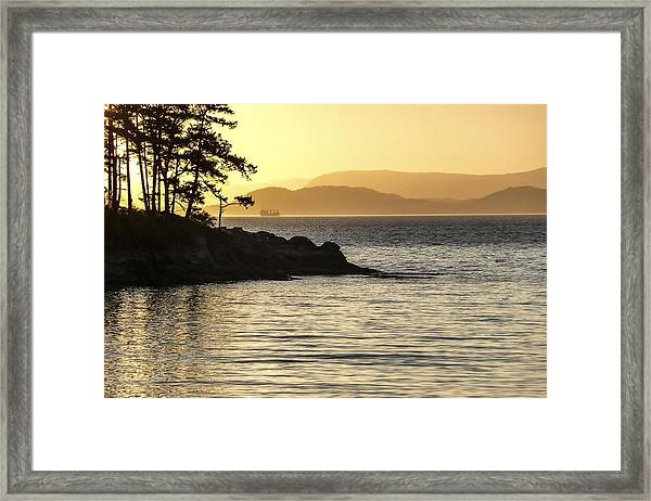 Dusk On Sucia Island Framed Print