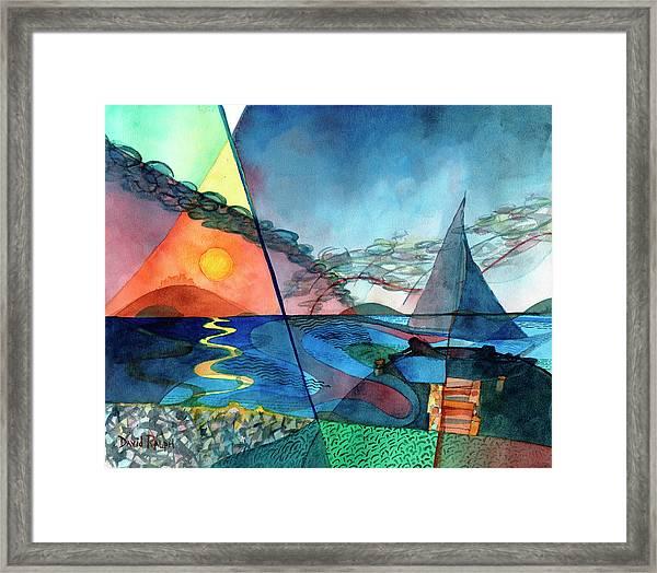 Dusk Over The Chesapeake Framed Print