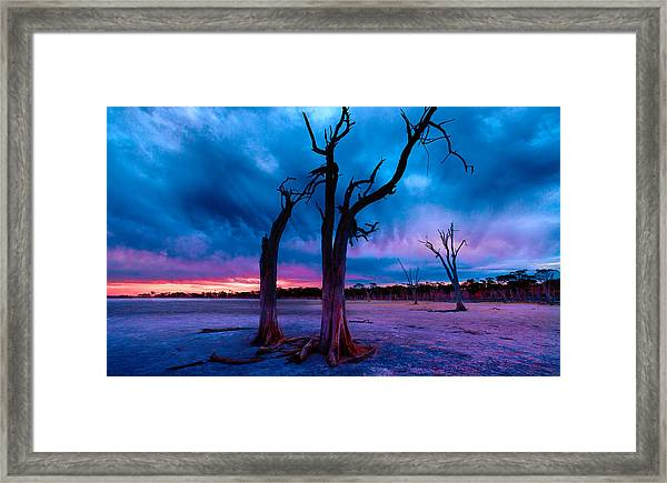 Dusk's Descent Framed Print