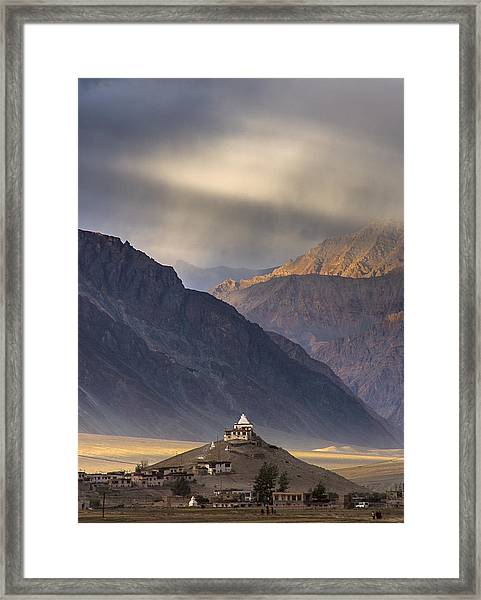 Dusty Evening, Padum, 2006 Framed Print
