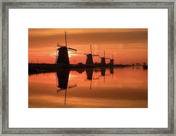 Dutch Sillhouette Framed Print