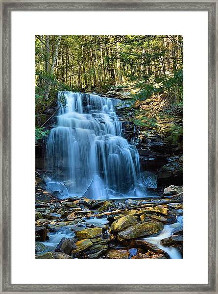 Dutchman Falls Lower Tier 1 Loyalsock State Forest Framed Print