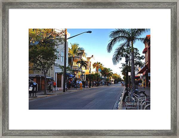 Duval Street In Key West Framed Print