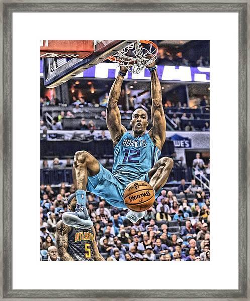Dwight Howard Charlotte Hornets Player Art 1 Framed Print