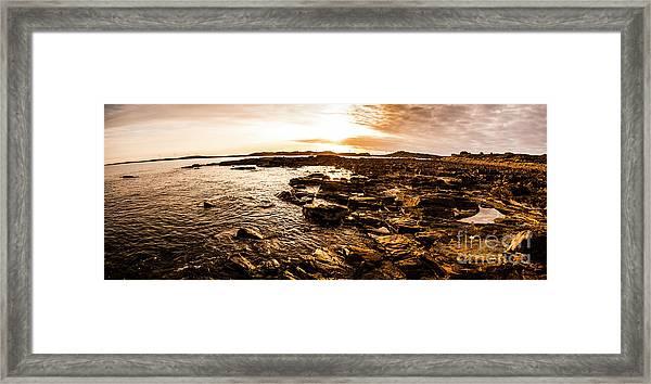 Dynamic Ocean Panoramic Framed Print