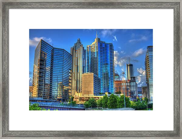 Dynamic Reflections Downtown Atlanta Georgia Art Framed Print