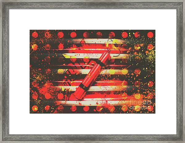 Dynamite Artwork Framed Print