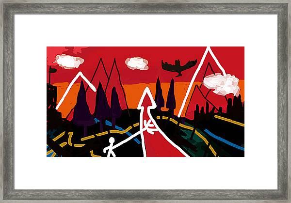 Dystopian Nite  Framed Print