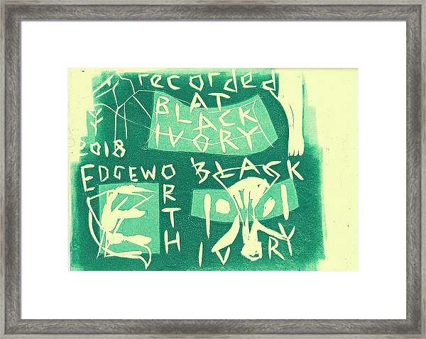 E Cd Green Framed Print