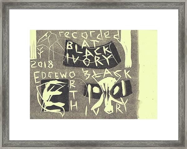 E Cd Grey Framed Print