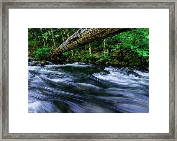 Eagle Creek Rapids Framed Print