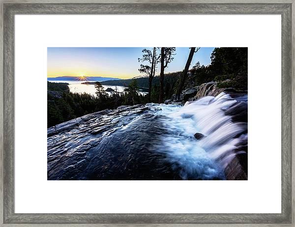 Eagle Falls At Emerald Bay Framed Print