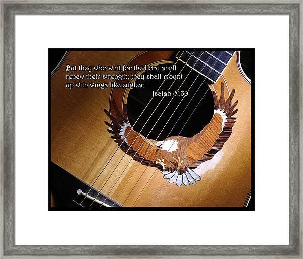 Eagle Guitar Framed Print