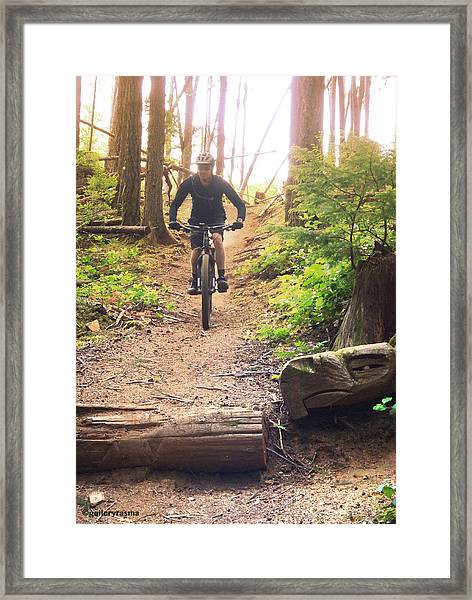 Eagle Jump Framed Print
