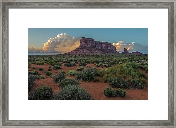 Eagle Mesa Storm Clouds Framed Print