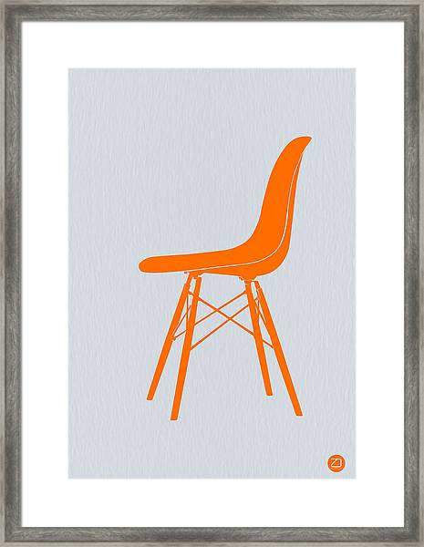 Eames Fiberglass Chair Orange Framed Print