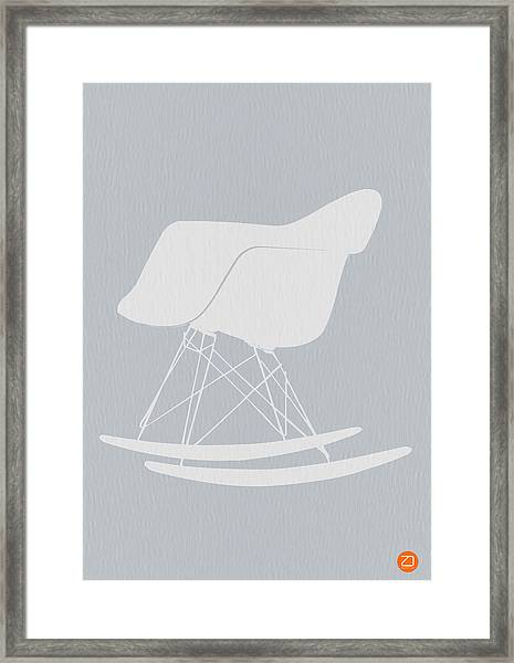 Eames Rocking Chair Framed Print