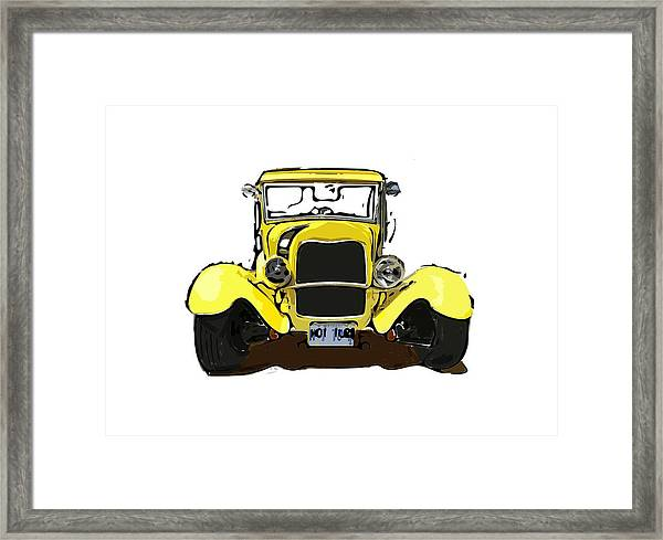 Early 1930s Ford Yellow Framed Print