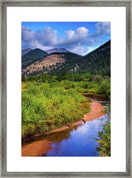 Framed Print featuring the photograph Early Autumn In Colorado by John De Bord
