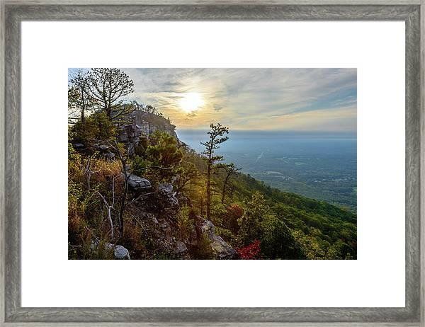 Early Autumn On Pilot Mountain Framed Print