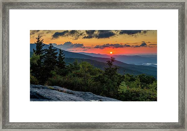 Blue Ridge Parkway Sunrise - Beacon Heights - North Carolina Framed Print