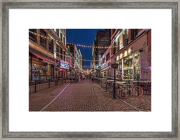 Early Evening On E. 4th Framed Print