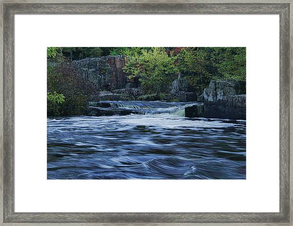 Early Fall At Eau Claire Dells Park Framed Print