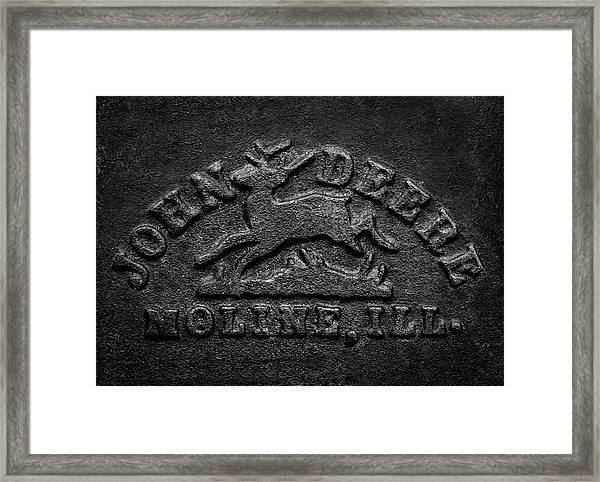 Early John Deere Emblem Framed Print