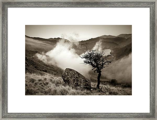 Early Mist, Nant Gwynant Framed Print