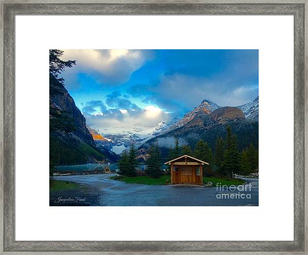 Early Moody Morning Framed Print