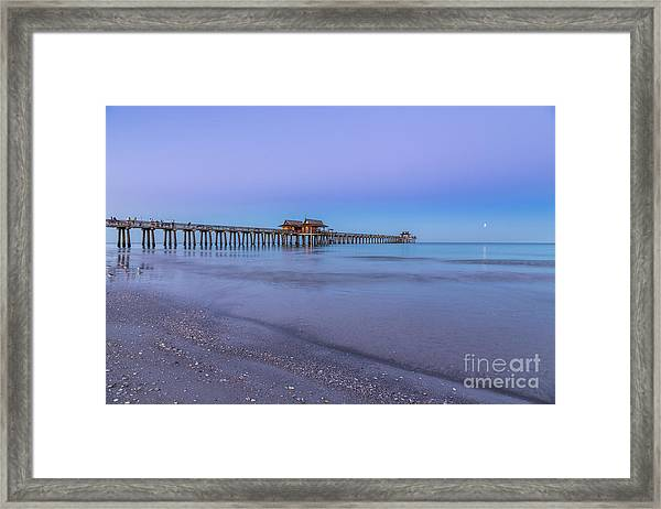 Early Morning At Naples Pier Framed Print