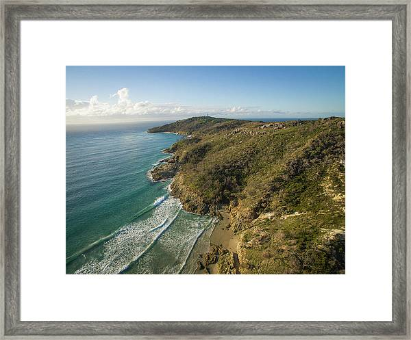 Early Morning Coastal Views On Moreton Island Framed Print