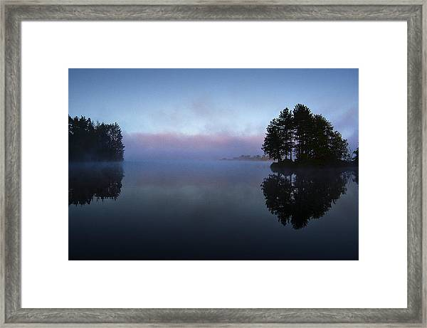 Early Morning Lake Nimisila Framed Print
