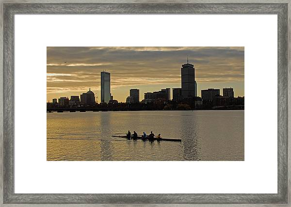 Early Morning On The Charles River Framed Print