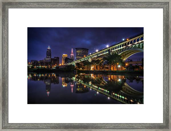 Early Morning Riverside In Cleveland Framed Print
