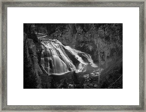 Early Morning Steam Falls Framed Print