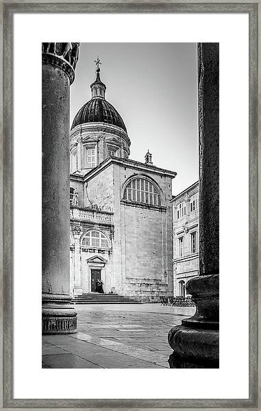 Early Morning Visitor Framed Print