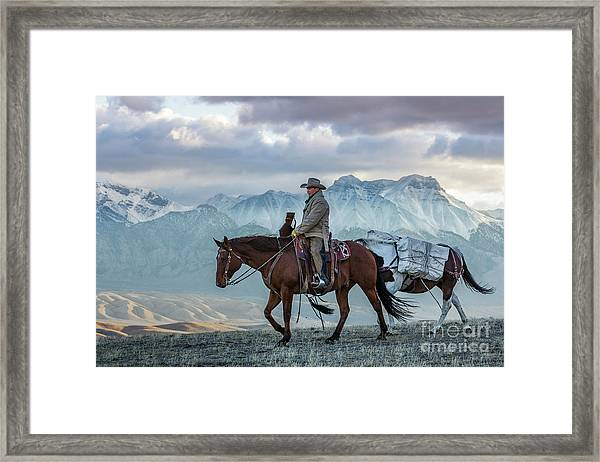 Early October Hunt Wild West Photography Art By Kaylyn Franks Framed Print