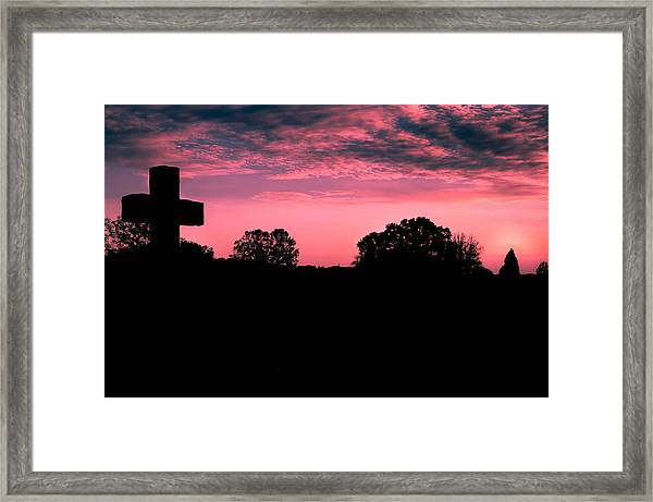 Early On The Hill Framed Print