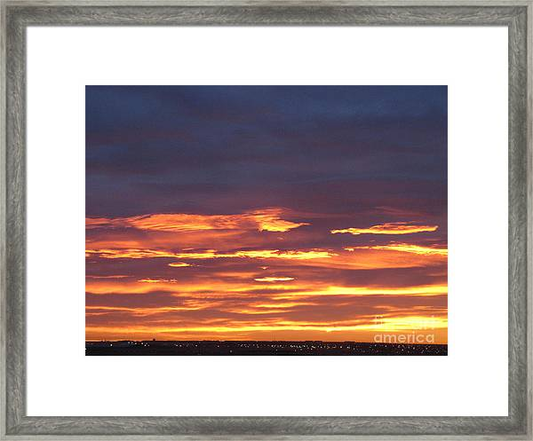 Early Prairie Sunrise Framed Print