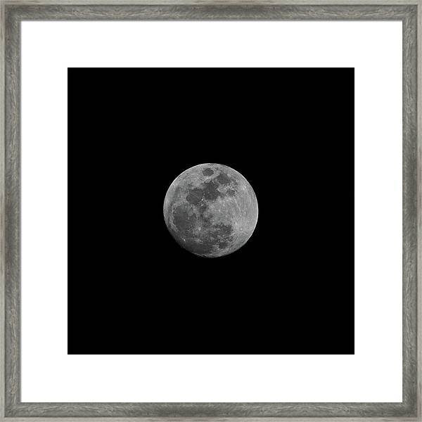 Framed Print featuring the photograph Early Spring Moon 2017 by Jason Coward