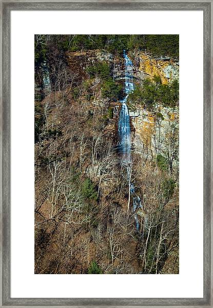 Early  Spring Waterfall  Framed Print